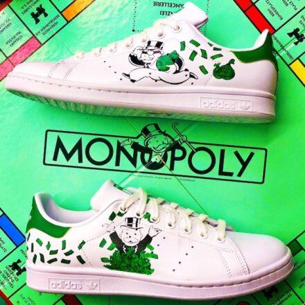 Custom Sneaker Adidas Stan Smith M..Monopoly