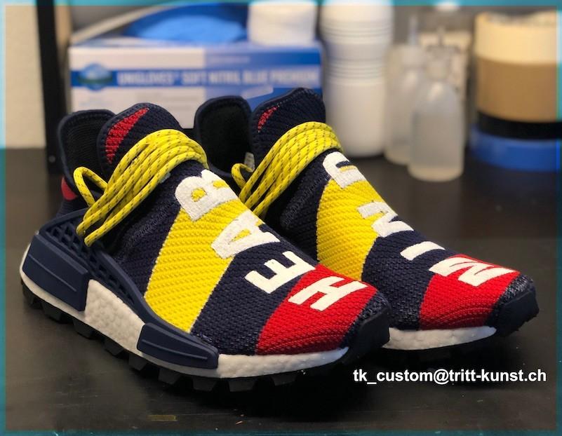 custom sneaker adidas nmd human race bbc