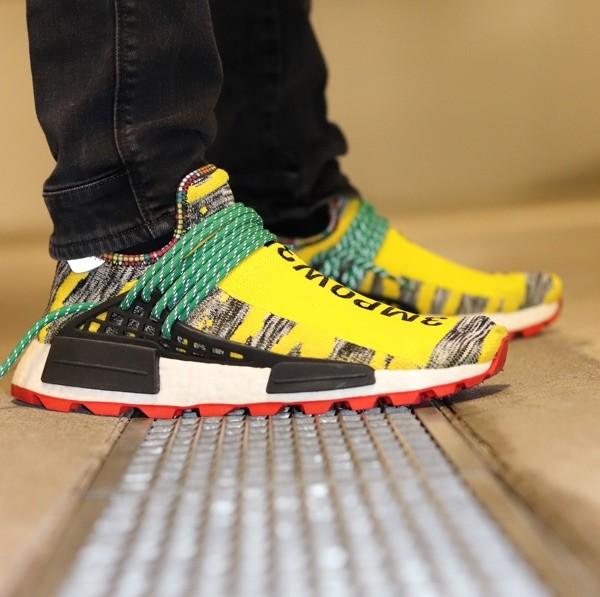 custom sneaker adidas nmd human race afro yellow