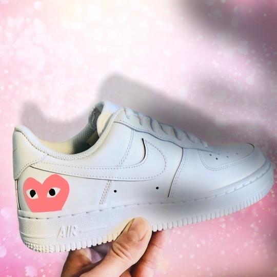 custom sneaker nike air force pink cdg