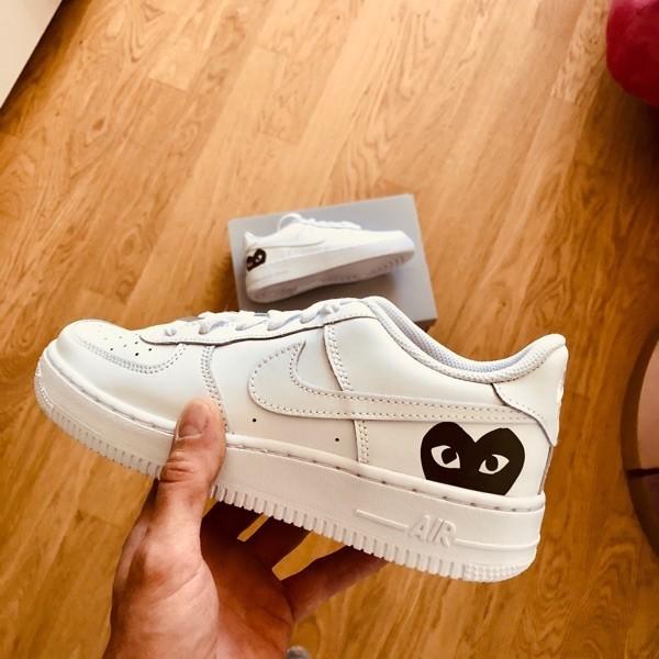 custom sneaker nike air force black cdg