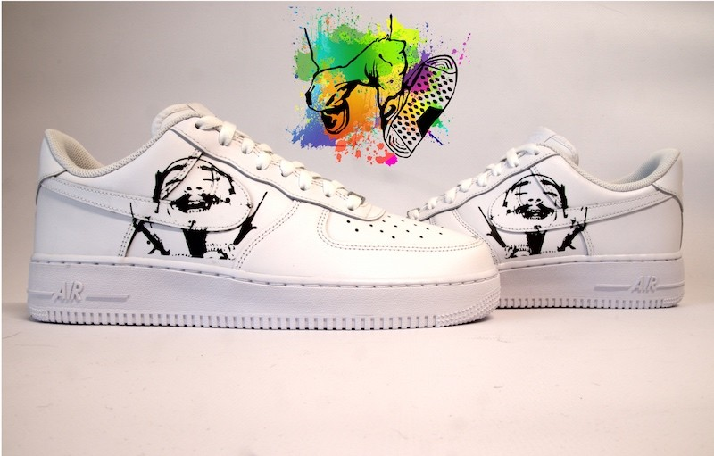 custom sneaker nike air force post Malone