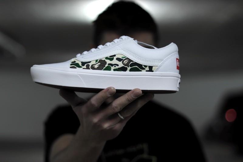 tritt-kunst Custom Sneaker custom sneaker vans bape camo