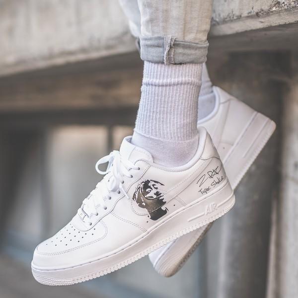 Custom Sneaker Nike Air Force Tupac and big
