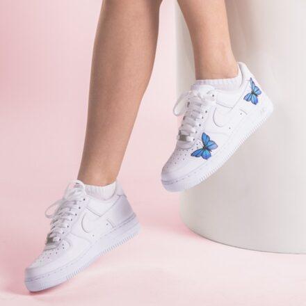 custom sneaker nike air force butterfly