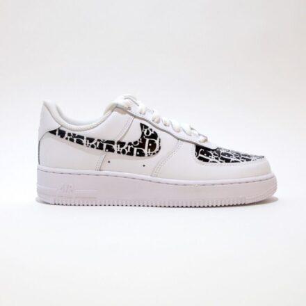 tritt kunst custom sneakers nike air forcer Black dior custom
