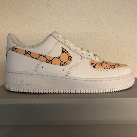 tritt kunst custom sneakers nike air force gucci custom