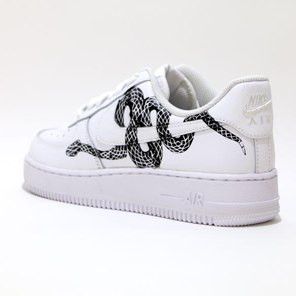 tritt kunst custom sneakers nike air force snake custom