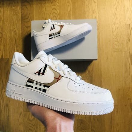 custom nike air force burberry