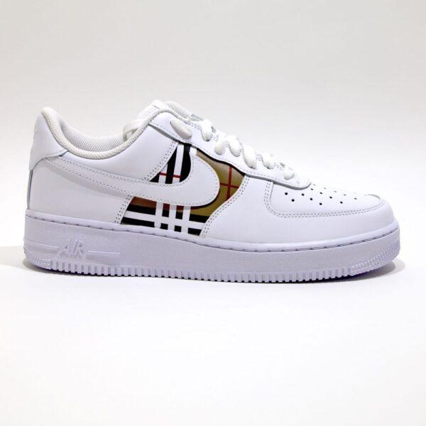 tritt kunst custom sneakers nike air force burberry custom