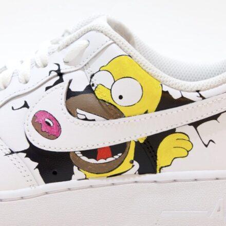 tritt kunst custom sneakers nike air force homer simpson custom