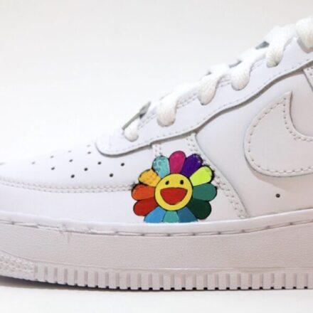 tritt kunst custom sneakers Nike Air Force Murakami Flower Custom