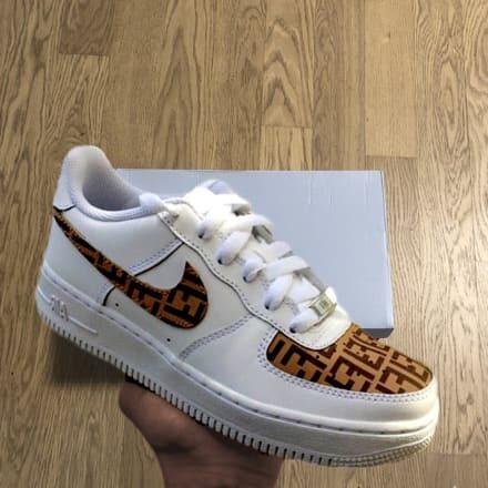 tritt-kunst custom sneakers custom nike air force fendi