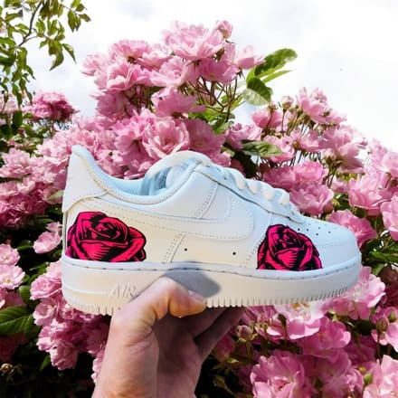 tritt-kunst custom sneakers Custom Nike Air Force Rose
