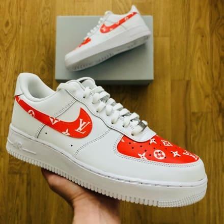 tritt-kunst custom sneakers custom-nike-air-force-red-lv