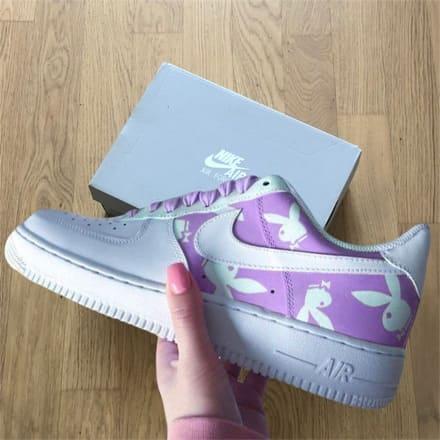 tritt-kunst custom sneakers Nike Air Force Bunny Custom
