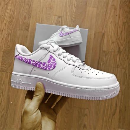 tritt-kunst custom sneakers custom nike air force dior swoosh