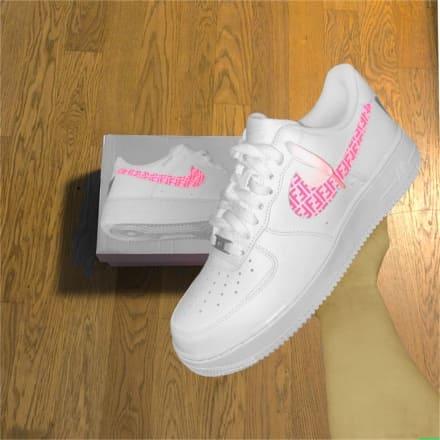 tritt-kunst custom sneakers custom nike air force fendi swoosh